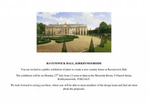 Image from Public Exhibition of proposed new Ravenswick Hall