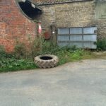 tractor tyre at Ravenswick Hall
