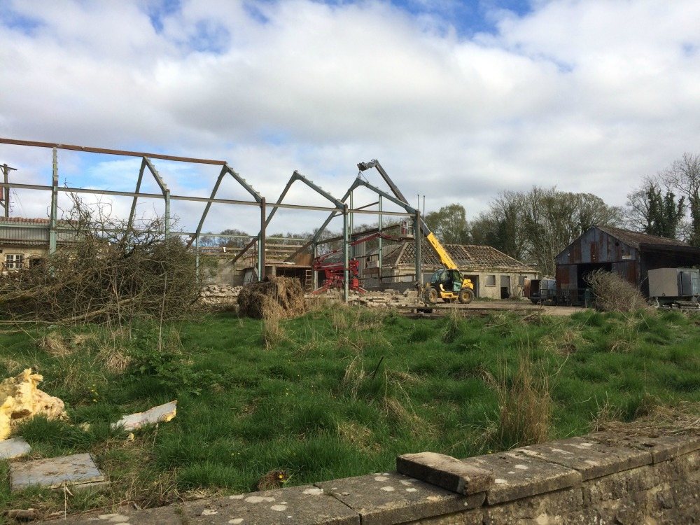 Farm Buildings at Ravenswick Hall coming down