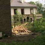 Timber being stripped out of Ravenswick Hall buildings