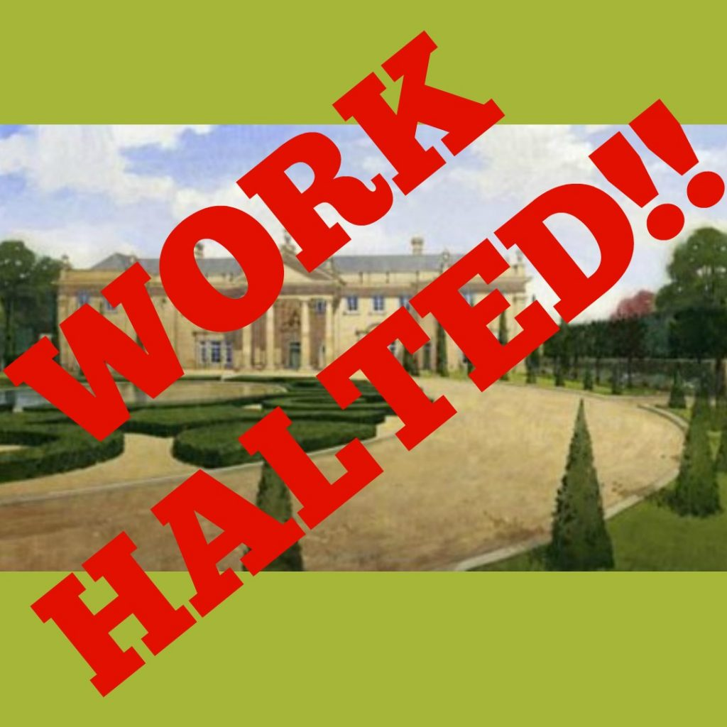 Work halted at Ravenswick Hall