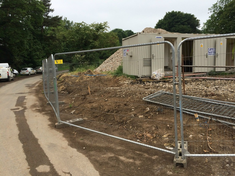 Ravenswick Hall - area now cleared opposite the hall