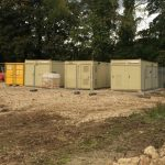 Developers portacabins at Ravenswick Hall