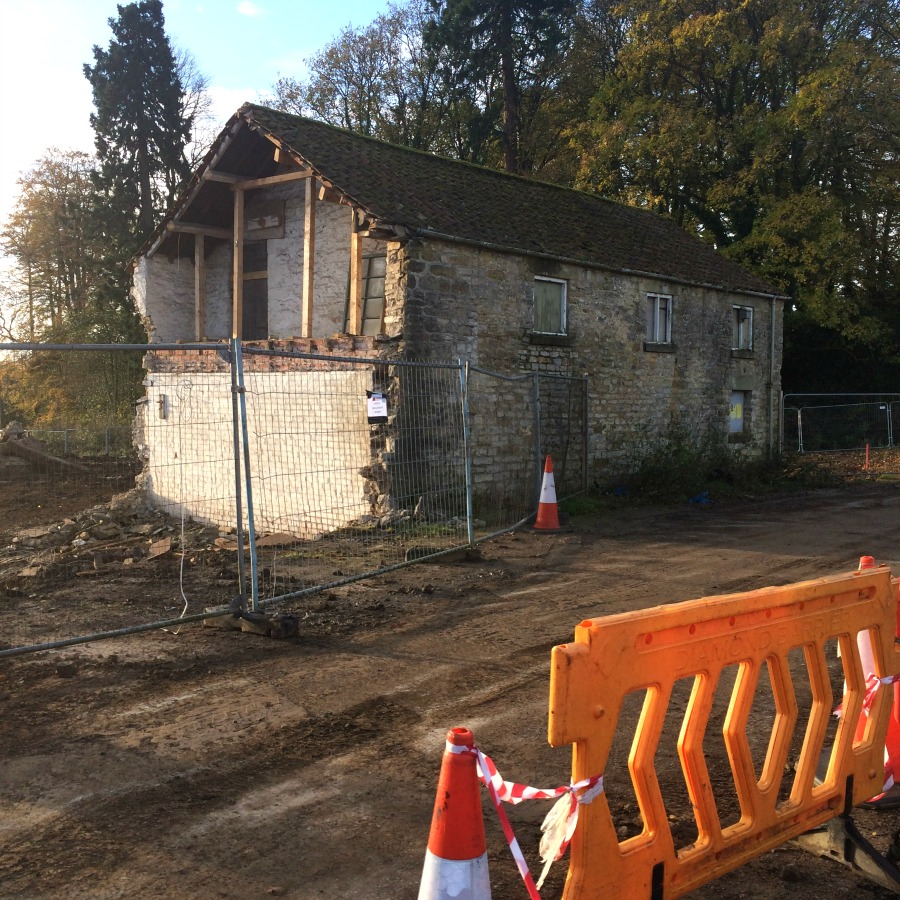 The only building left standing at Ravenswick Hall