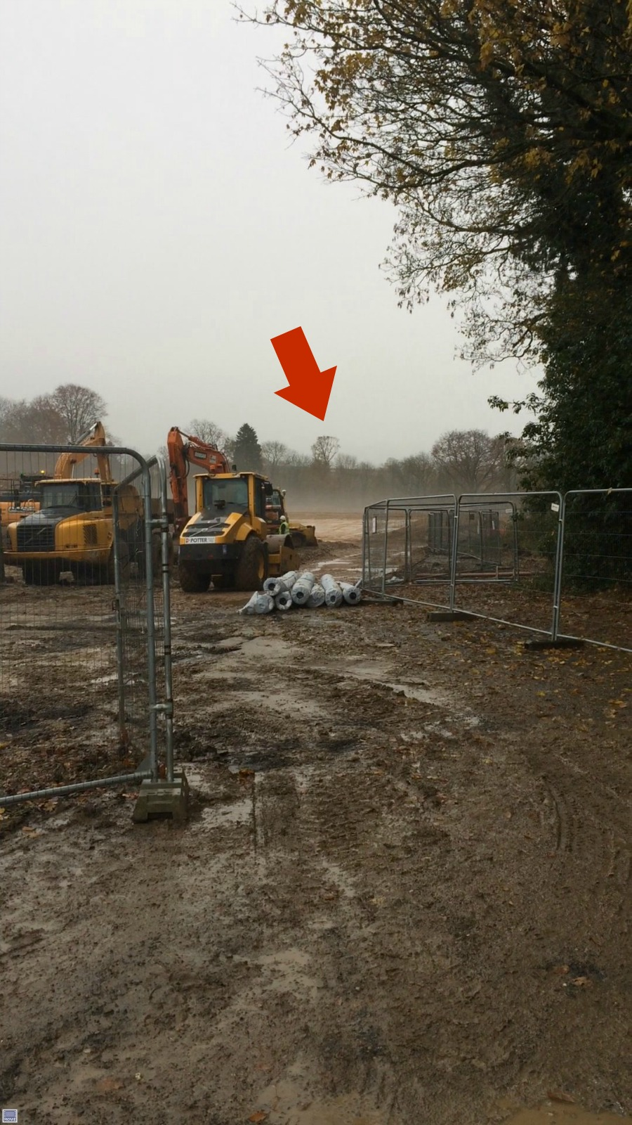 Groundworks now quite extensive at Ravenswick Hall