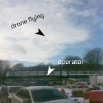 Drone flying above the Ravenswick Hall construction site