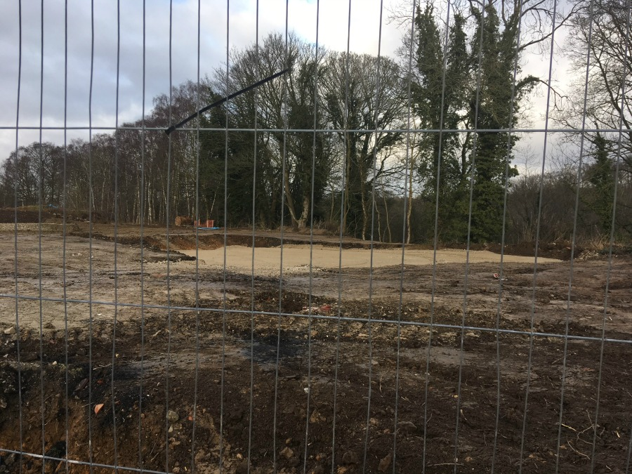 Ground preparations for staff cottages area at Ravenswick Hall